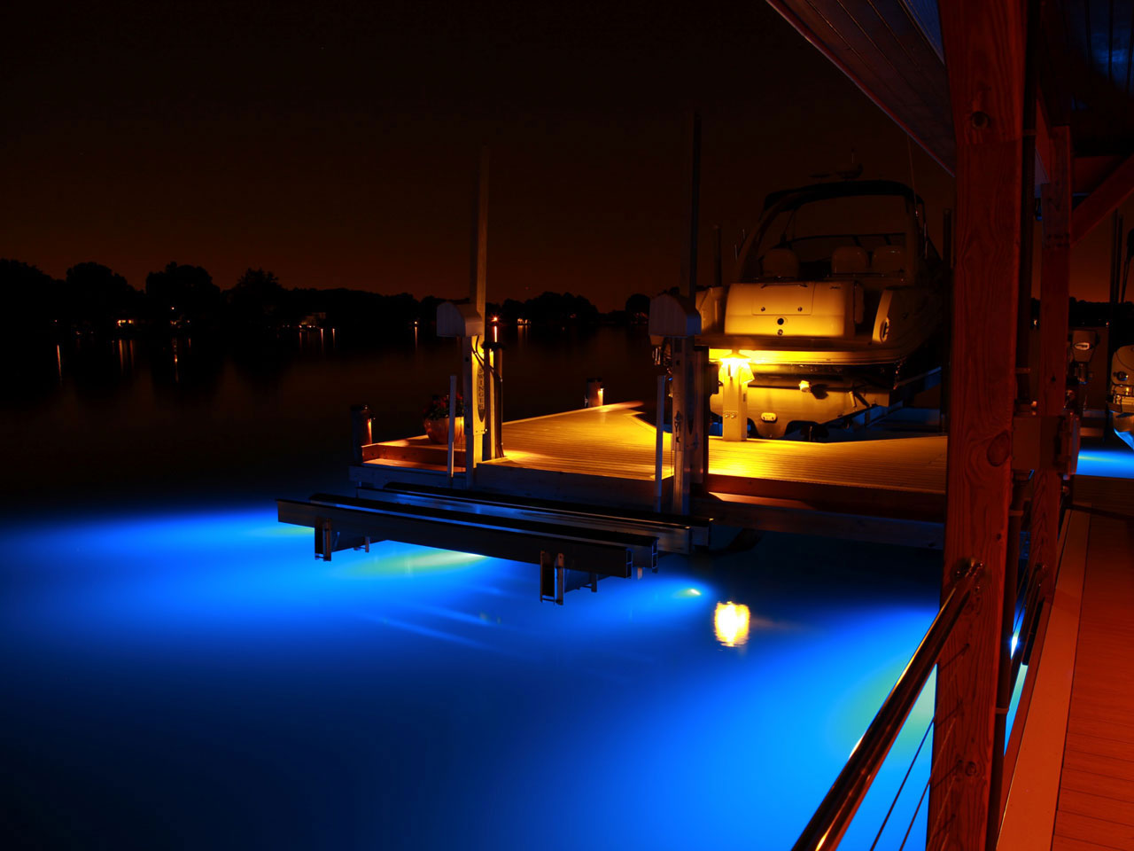 underwater lighting lake norman custom docks from lancaster dock